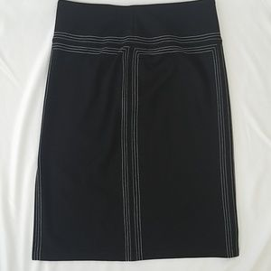 Express Black Pencil Skirt with white detail